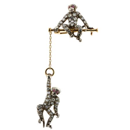 猿のアンティークジュエリー