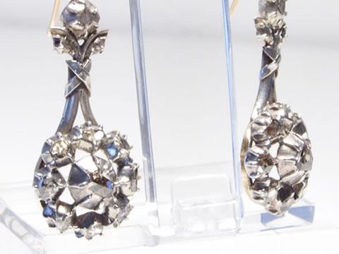 アンティークダイヤモンドピアス(18世紀フランス)