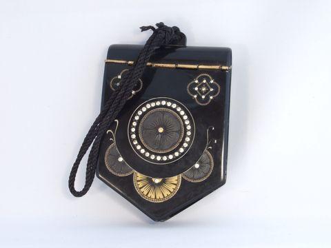 アンティークベークライトバッグ(黒、アールデコ)