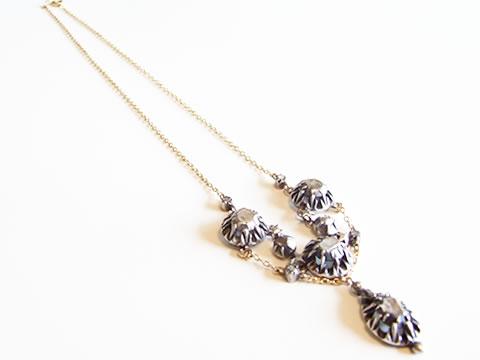 アンティークダイヤモンドネックレス(南仏プロヴァンス、ステップカットダイヤモンド)