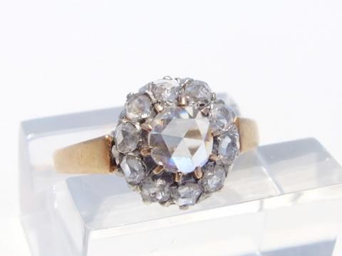 ローズカットダイヤモンドリング(レイトジョージアン 1830年頃)