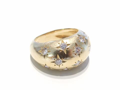アンティーク星のボンブリング(ダイヤモンド、1930年頃)