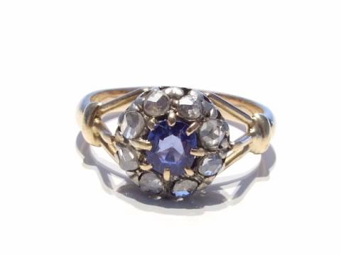 アンティークセイロンサファイア指輪