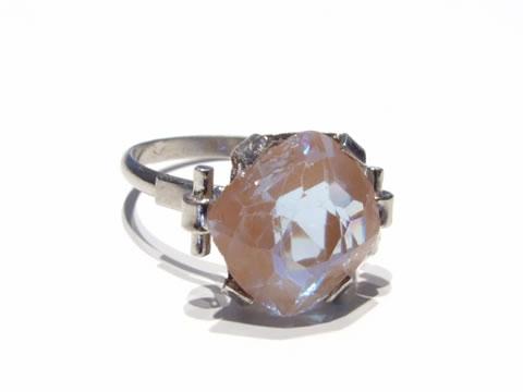アンティークサフィレットの指輪(ひし形、ラヴェンダー、ダークピンク)