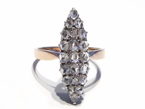 マーキーズアンティークダイヤモンドリング(19世紀後期)