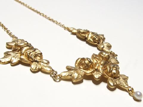 薔薇ネックレス(18Kゴールド)