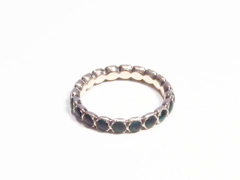 18世紀エタニティリング(緑ガラスペースト、結婚指輪)