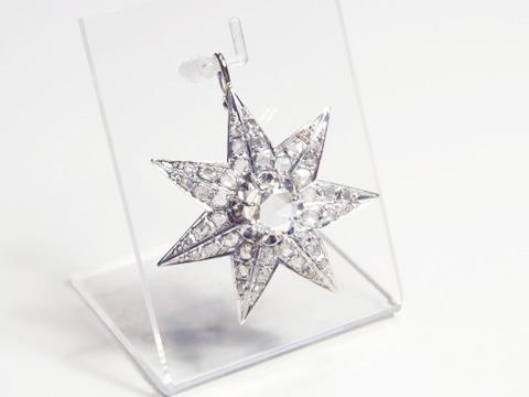 アンティークダイヤモンドペンダントヘッド(1カラット、レモンイエローファンシーカラーダイヤモンド)