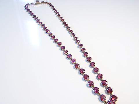 アンティークガーネットネックレス(紫ピンクガーネット、王政復古時代)