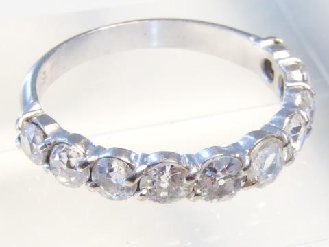 アンティークダイヤモンドエタニティーリング(ローズカット、結婚指輪)