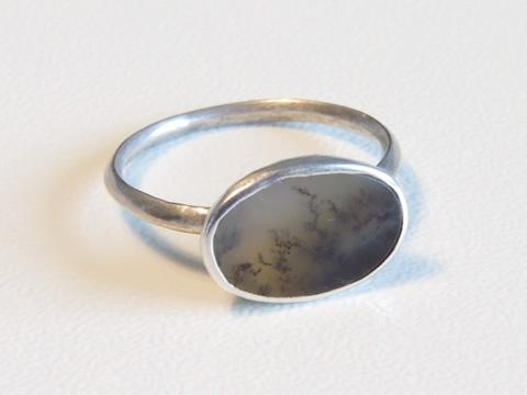 18世紀アゲート指輪(フランス、ピクチャードストーン、銀)