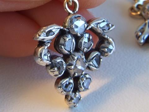 18世紀ダイヤモンドピアス