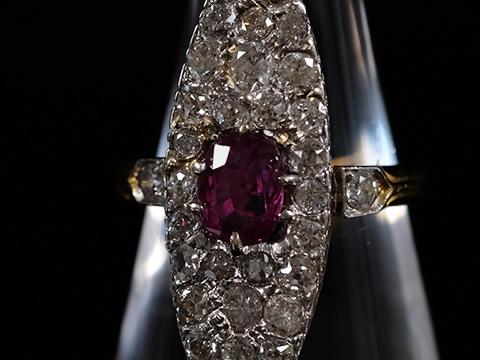 ビルマ産アンティークルビー指輪