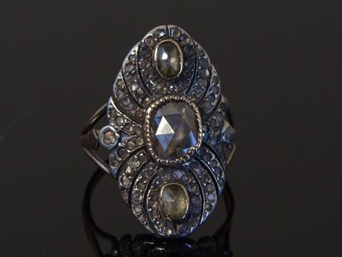 18世紀ダイヤモンドリング(シャンパンカラーダイヤモンド)
