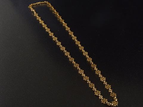 金細工ゴールドチェーンネックレス(19世紀前半ー半ば)