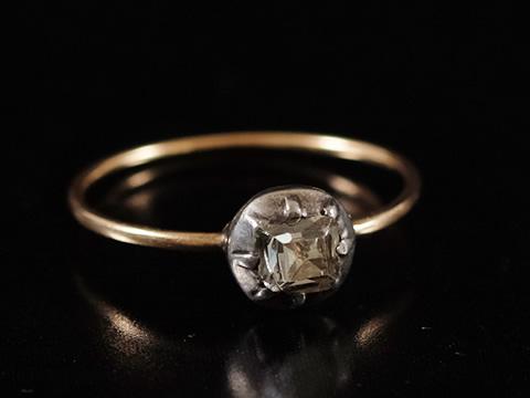 18世紀 テーブルカットダイヤモンド指輪