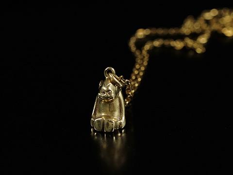 猿(モンキー)アンティークゴールドペンダントトップ (19世紀後期 ダイヤモンド)