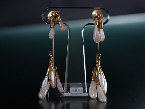 ミシシッピ真珠のピアス