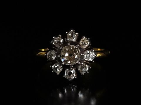オールドマインカット(クッションシェイプカット)ダイヤモンドリング(マーガレット)